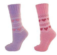 Señoras modelado del corazón Skid Slipper Socks no EUR 36-39