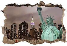 Stickers 3D Trompe l'oeil Statue de la liberté réf 23746 23746 Art déco Stickers
