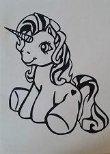 Sticker poney licorne personnalisable