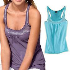 Glitzer Pailletten-Optik lässig TOP Shirt TUNIKA lila&blau Gr.32 34 36 38 XS S