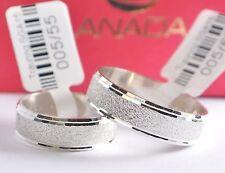 1 Paar Trauringe - Silber 925 - Mattiert - Diamantiert - Breite 6,1mm - Neuheit
