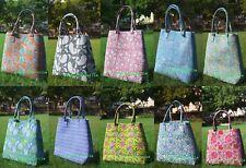 Tote Bag Block Printed Indian Mandala Handbag Cotton Women Satchel Purse Lady