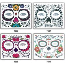 Temporäres Tattoo Halloween Maske Face Art Skull Totenkopf Tattoo für Gesicht