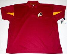 Washington Redskins Majestic Golf Coaches Polo Shirt Big Men'S 4X 5X Maroon Nwt