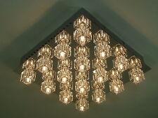 """Moderne LED+Halogen Kristall Deckenleuchte """"Crystal"""" Fernbedienung Farbwechsler"""