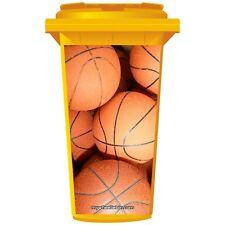 Basketballs Wheelie Bin Adesivo pannello