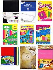 A4 Multi Coloured Activity Paper/Neon Fluorescent Craft/Black Card Paper School