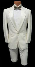 Ivory Notch Tuxedo Dinner Jacket & Pants Set Wedding Cruise Formal Prom Coat