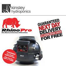 Rhino Thermo Probe Temp Control Fan 4 5 6 Inch Inline Extractor Hydroponics