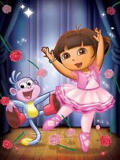 Dora the Explorer Dance Cartoon Beautiful Art Kids Giant Wall Print POSTER