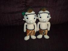 Lot Of 2 Beanbag Tarzan Jungle Boy W/ Mohawk & Loin Cloth Plush Bean Bag Toys