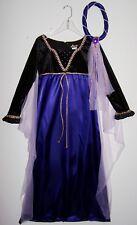 HALLOWEEN PRINCESS COSTUME Girl's S-M-L Blue-Satin Black-Velvet Gold HEADBAND
