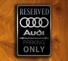 Audi Parking Sign GARAGE SIGNS Audi Reserved Parking Audi Gift