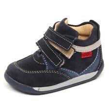 E2222 sneaker bimbo blu KICKERS KAME scarpe suede shoe boot kid boy