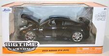 Jada 96811 NISSAN GT-R R35 Modello Diecast Auto Stradali CORPO NERO/ROSSO 2009 1:24th