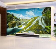 3D Ciel Vert Pente Photo Papier Peint en Autocollant Murale Plafond Chambre Art