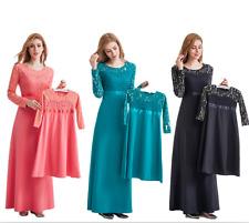 New Fashion musulman Mère et enfant robe islamique Femmes Enfants Filles Caftan Abaya