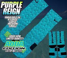 """NIKE AIR JORDAN XI 11 RETRO LOW  """"AQUA"""" Custom Nike Elite Socks (ALL SZ)"""