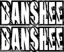 Banshee Rear Fender Graphics Decals Stickers 350 TWIN ATV Quad Custom Black 465