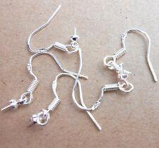 Wholesale 20X Making Jewelry Findings 925 Sterling Silver Earring Hook Ear Wires