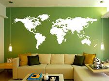 World Map Art Decal Wall Sticker UK   SH164