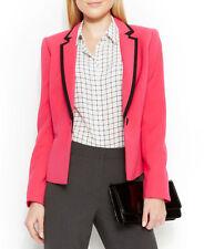 Anne Klein Smart Single Button Bright Pink Blazer Size 8 Orig Price $129