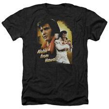 Elvis Presley Heather T-Shirt Aloha from Hawaii Black Tee