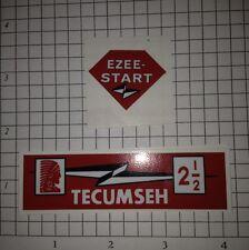 Tecumseh 2-1/2 hp decal H25 Lightning bolt Ezee-Start TR25