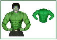 Super Muskel Shirt Superheld Hulk Muskelshirt Kostüm Soldat GRÜN Karneval , (K)