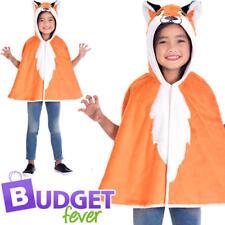 Fantastic Mr Fox Cape Child Fancy Dress Animal World Book Day Kid Costume Cloak