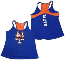 New York Mets Tank Top Womens Foil Blue 5th & Ocean MLB