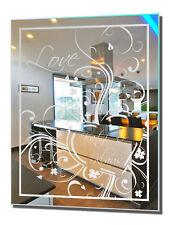 Motivspiegel Liebe 15 Wandspiegel Modern Art Dekoration Edel Luxusspiegel Love