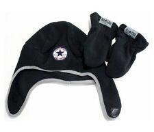 Converse All Star Toddler Boy's 2/4T Fleece Trapper Beanie Hat & Mittens Set