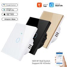 TUYA WiFi Smart Light Switch 1/2/3Gang Wall Remote Touch Control Fr Alexa Google