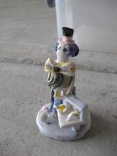 Vintage Porcelain Folk Art Clown Figurine LOOK