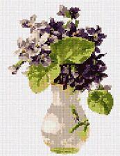 Vase Purple Flowers Needlepoint Kit or Canvas (Floral/Nature)