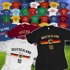 Fußball WM T-Shirt  Nummer 10 Weltmeisterschaft 2018 Länder Trikot Fan Artikel