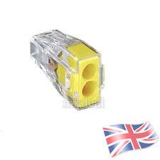 Wago 773-102 dos polos Push Conector del Cable Eléctrico Terminal Bloque De Cable Car UK