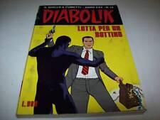 DIABOLIK INEDITO ORIGINALE-ANNO XXV-LOTTA BOTTINO-N° 14