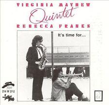 Virginia Mayhew Quintet  It's Time for Rebecca Franks Kevin Hays Leon Parker RAR