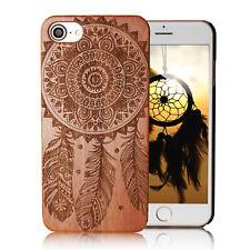 Handyhülle für iPhone 5 5s SE ECHTHOLZ mit Traumfänger Tasche Schutz Schale Case