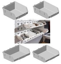 Lochwand Minibox weiß 4 Größen für Stahllochplatte Schraubenbox Werkstatt Wand