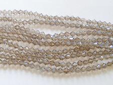 1 Strand  Crystal Glass Bicone Beads - Black Diamond - 6mm