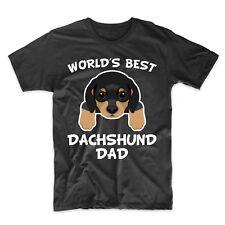 Weiner Dog Dad Shirt - World's Best Dachshund Dad Dog Owner T-Shirt