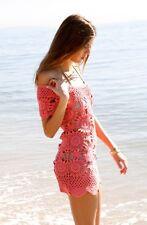 Eternal Sunshine Creations Crochet Cap Sleeve Wildflower Dress Coral New W Tags