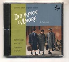 Cd DICHIARAZIONI D'AMORE Pupi Avati OST NUOVO 1994 Quartetto Cetra Rabagliati