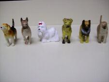 Plastic Dog Figures - Arghan Hound, Shar Pei, Beagle, Boxer, Collie, Shi Tzu Dog