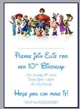 personalised photo paper card party invites invitations WALT DISNEY DISNEYLAND