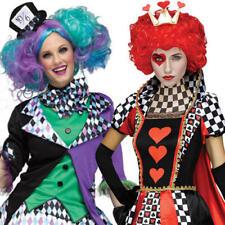 Alice in Wonderland Ladies Fancy Dress Halloween Womens TV Film Book Costume New