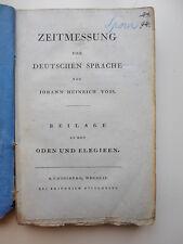 Voss – Zeitmessung der deutschen Sprache - 1802